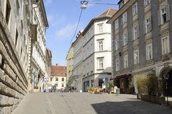 Street in the old town of Graz Royalty Free Stock Photography