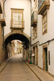 Street in the old town. Guimaraes . Portugal Royalty Free Stock Image