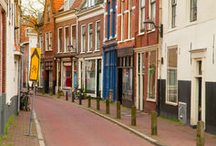 Street in old town of Haarlem Royalty Free Stock Images