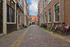 Street in old town, Haarlem, Netherland Stock Photography