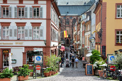 Street in old town,Heidelberg,Germany Royalty Free Stock Photography