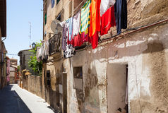 Street of old town. Huesca Royalty Free Stock Image