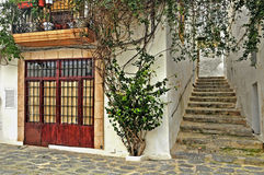 A street of old town of Ibiza, Balearic Islands Royalty Free Stock Photography