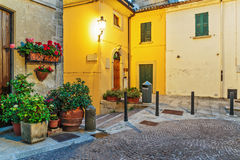 Street in old town in Italy at night Royalty Free Stock Photos