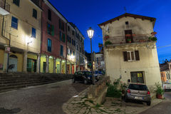 Street in the old town in Italy at night Stock Photo