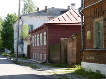 The street of old town. Kalyazin, Russia, Tverskaya oblast region Stock Image