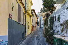 Street in the old town in Kavala, East Macedonia and Thrace Stock Image
