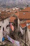 Street in the old town. Kotor. royalty free stock photos