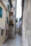 Street in the old town of Kotor Royalty Free Stock Image