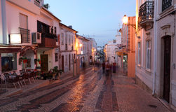 Street in old town of Lagos, Portugal Royalty Free Stock Photo