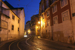 Street in the old town of Lisbon Stock Photography