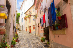 Street in old town of Lisbon Royalty Free Stock Photography