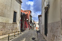 Street  in old town of Lisbon Royalty Free Stock Image