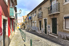 Street  in old town of Lisbon Royalty Free Stock Images