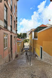 Street  in old town of Lisbon Royalty Free Stock Photo