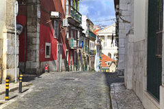 Street  in old town of Lisbon Stock Images