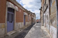 A street in the old town. Lisbon. Portugal Royalty Free Stock Image