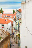 Street in old town of Lisbon Stock Image