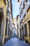Street in old town Lucca, Italy Royalty Free Stock Photos