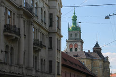 A street in the Old Town of Lviv, Stock Photos