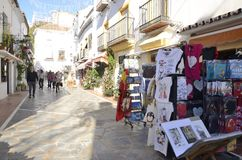 Street of the old town of Marbella Stock Image