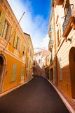 Street in old town in Monaco Stock Photos