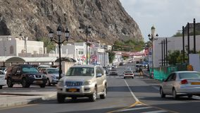 Street in the old town of Muscat, Oman stock footage