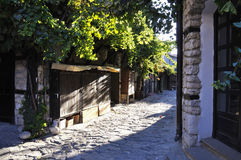 Street of the old town of Nesebar in Bulgaria Stock Photo