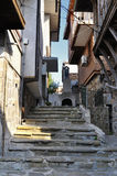 Street of the old town of Nesebar in Bulgaria with steps leading up Royalty Free Stock Image