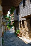Street of the old town. Nessebar.Bulgaria. Stock Image