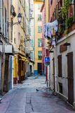 Street the old town of Nice Royalty Free Stock Photography