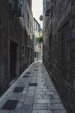 Street in Old Town in Omis town, Croatia. Royalty Free Stock Photo