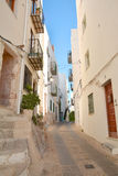 Street in old town of Peniscola Stock Image