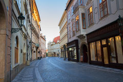 Street in old town, Prague Stock Photography