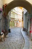 Street in old town, Prague Stock Photo