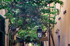 Street in the old town of Rethymno, Crete, Greece. Stock Photos