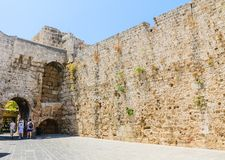 Street  in the Old Town. Rhodes Island. Greece Royalty Free Stock Photos