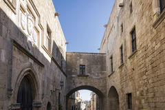 Street in Old Town, Rhodes Stock Photography