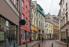 Street in the old town of Riga Royalty Free Stock Photos