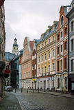 Street in the old town of Riga Stock Photo