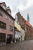 Street in the old town of Riga Royalty Free Stock Image