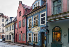 Street in the old town of Riga Royalty Free Stock Photo