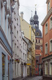 Street in the old town of Riga Stock Images