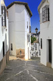 Street in old town, Ronda, Andalusia, Spain Royalty Free Stock Photos