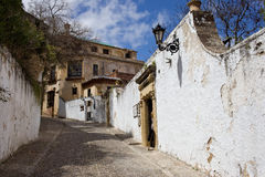 Street in Old Town of Ronda in Spain Stock Photos