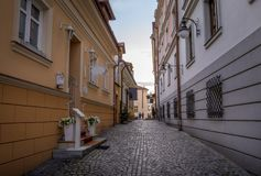 Street in old town of Rzeszow, Poland. Street in old town of Rzeszow city, Poland Royalty Free Stock Photos