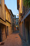 Street in the old town San Marino Stock Photography