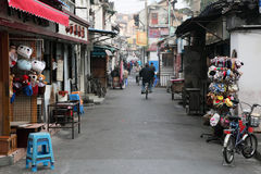 Street in old town of Shanghai Stock Image