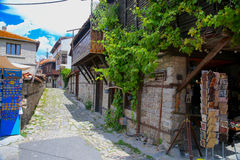 Street of old town with souvenirs. Nesrbar. Bulgaria. Street of old town. Nesrbar Bulgaria Stock Photo