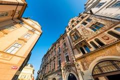 Street at Old Town Square (Staromestske Namesti). Prague, Czech Royalty Free Stock Image